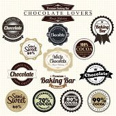picture of bittersweet  - Premium Retro Chocolate Vintage Label Set - JPG