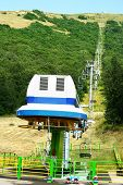 foto of ropeway  - Ropeway in mountain city Jermuk - JPG