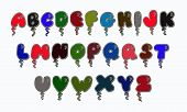 Alphabet, Letters, Font, Abcd, Abc, Lettering, Painted, Letter, Watercolor, Art, Modern, Logo, Hand, poster