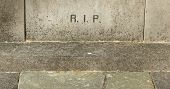 picture of life after death  - The letters RIP  - JPG