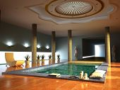 picture of hot-tub  - luxury spa interior  - JPG
