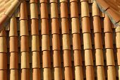 Red Tile Roof. Roof Tiles On The Roof poster