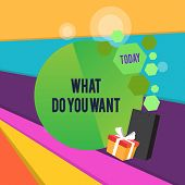 Word Writing Text What Do You Want. Business Concept For Used For Offering Something To Someone Or A poster