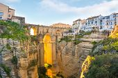 Ronda, Spain Old Town Summer Cityscape On The Tajo Gorge. poster