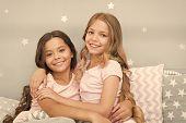 Best Girls Sleepover Party Ideas. Soulmates Girls Having Fun Sleepover Party. Childhood Friendship C poster