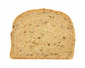 stock photo of flaxseeds  - An overhead view of a slice of flaxseed bread - JPG