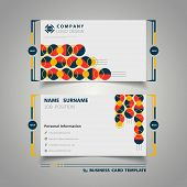 Abstract Circle Colorful Geometry Name Card Design Simple Template. Illustration Vector Eps10 poster