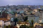 image of amman  - living district Amman city at night Jordan - JPG