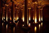stock photo of cistern  - Underground Basilica Cistern  - JPG
