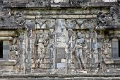 Candi Sari  (also known as Candi Bendah) buddhist temple in Prambanan valley on  Java. Indonesia. Built around 778 a.d. it supposedly is the oldest temple among those built in the Prambanan valley. poster