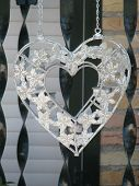 picture of stelles  - Interesting stell heart in the garden bangle on chain - JPG