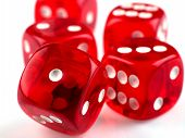 picture of dice  - Some dices for playing a  lucky games - JPG