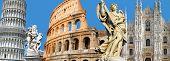 Italian landmarks poster