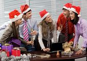 picture of office party  - Photo of laughing co - JPG