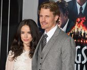 LOS ANGELES, CA - JANUARY 7: Josh Pence and Abigail Spencer arrive at the premiere of Gangster Squad