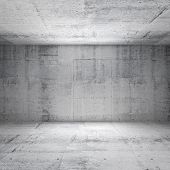 stock photo of stage decoration  - Abstract white interior of empty room with concrete walls - JPG