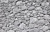 Grey Old Wall Made Of Big And Little Stones