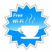 Free Wi-fi Vector Label
