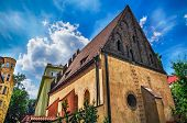 picture of synagogue  - Old synagogue in Jewish Quarter of Prague - JPG