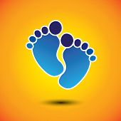 picture of painted toes  - baby - JPG