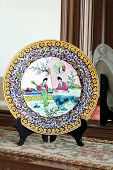 Colorful painted china plate