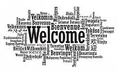 stock photo of statements  - Welcome Tag Cloud in vector format - JPG