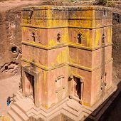 picture of ethiopia  - The church of St George at Lalibela in Ethiopia - JPG