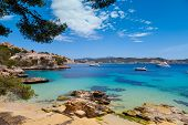 image of chalet  - Cala Fornells View in Paguera Majorca Spain - JPG