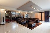 picture of penthouse  - A spacious elegant penthouse in a modern style with a big sofa - JPG