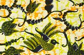 Traditional Batik Sarong Pattern Background , texture