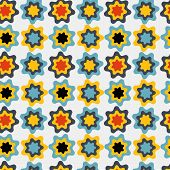 Flower Leaves Seamless Pattern Background
