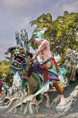Wu Song Slaying Tiger Statue At Haw Par Villa
