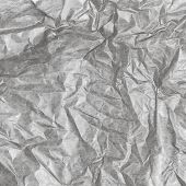 Crumpled Gray Paper Background Texture. Vintage Craft Paper Texture White Grey Color. Background Of