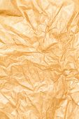 Crumpled Recycled Paper Background Texture. Vintage Craft Paper Texture Brown  Color. Paper For Pack