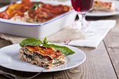 image of lasagna  - Vegan lasagna with tofu - JPG