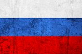pic of frazzled  - Grunge Dirty and Weathered Russian Flag Old Metal Textured - JPG
