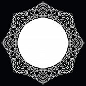 picture of doilies  - Vintage handmade knitted doily - JPG