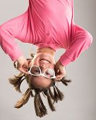 picture of upside  - Little boy hanging upside down - JPG