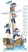 stock photo of measuring height  - Ship meter wall - JPG