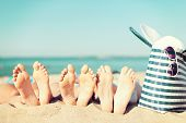 foto of sunbather  - summer vacation - JPG