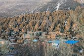 stock photo of tabriz  - View of village Kandovan in northern Iran - JPG
