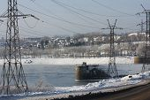 picture of kama  - Kama hydro electric station in the city of Perm - JPG