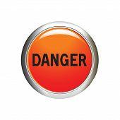 stock photo of dangerous  - Danger icon - JPG
