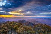 stock photo of blue ridge mountains  - Blue Ridge Mountains in North Georgia - JPG