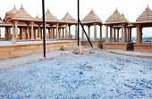 picture of jainism  - Bada Bagh Cenotaph in Jaisalmer - JPG