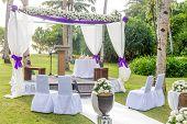 foto of cabana  - beautiful wedding arch - JPG