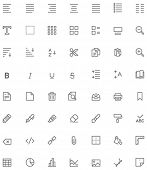pic of glyphs  - Set of the document editing related glyphs - JPG