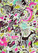 foto of psychedelic  - abstract psychedelic background - JPG