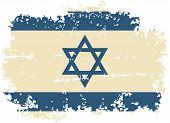 image of israeli flag  - Israeli grunge flag - JPG