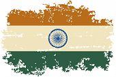 foto of indian flag  - Indian grunge flag - JPG